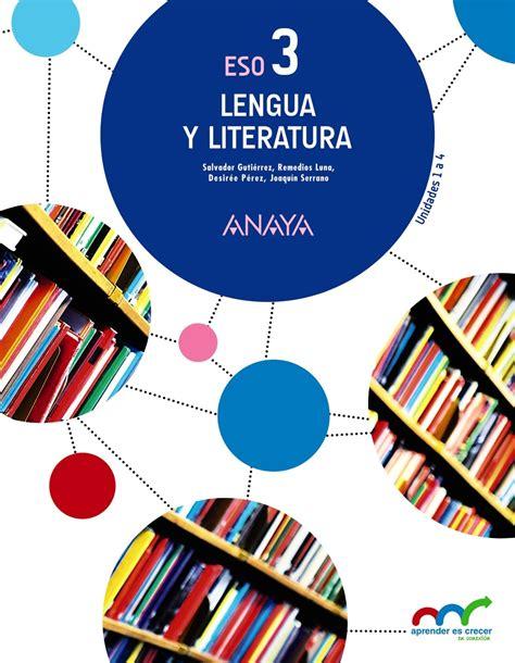 libro aprender es crecer lengua 3eso lengua y literatura 3 ed 2015 aprender es crecer en conexin gutirrez ordez salvador