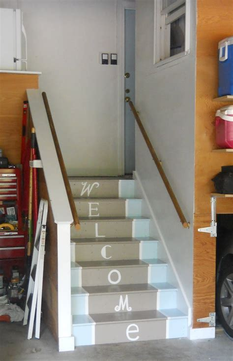Stairs From Garage To Basement by Mudroom Makeover Painted Stairs Shine Your Light