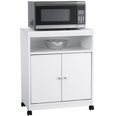 rolling microwave cart in kitchen island carts