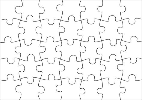 printable puzzle template 8 5 x 11 best photos of jigsaw puzzle template 8 5x11 10 piece