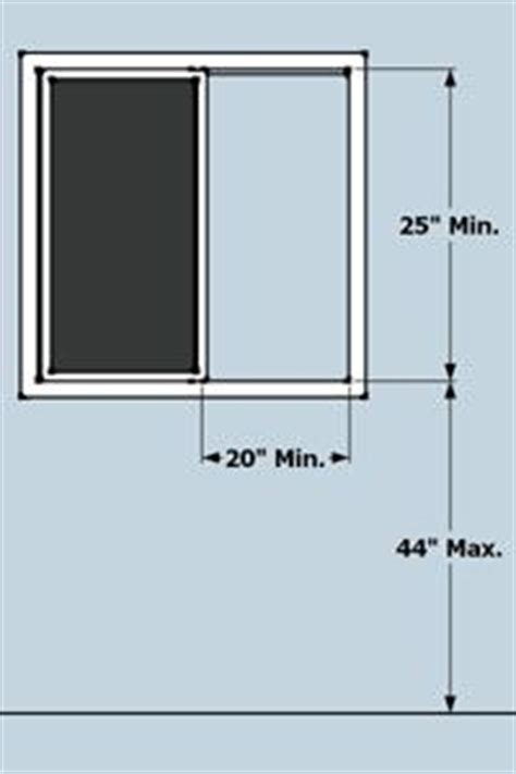 Minimum Window Sill Height Second Floor by Egress Window Requirements Ingenius Ideas
