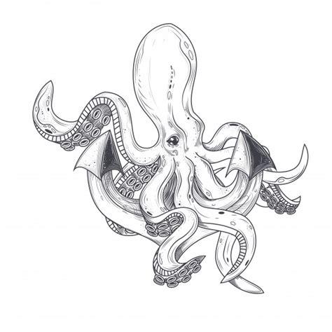 anker en anker vector illustratie van een octopus knuffel tentakels van