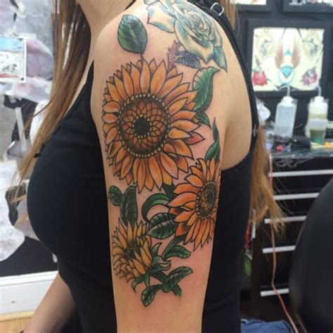 sunflower sleeve tattoo flower sleeve tattoos designs ideas and meaning tattoos