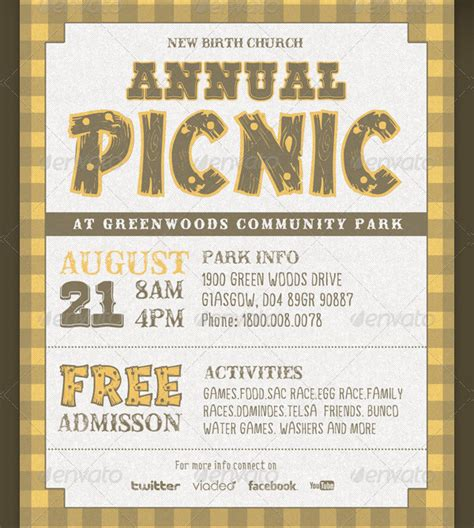 Picnic Invitation Template 18 Free Premium Download Church Invitations Templates