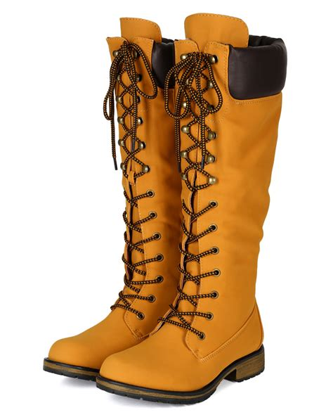nature 02h new womens leatherette knee high