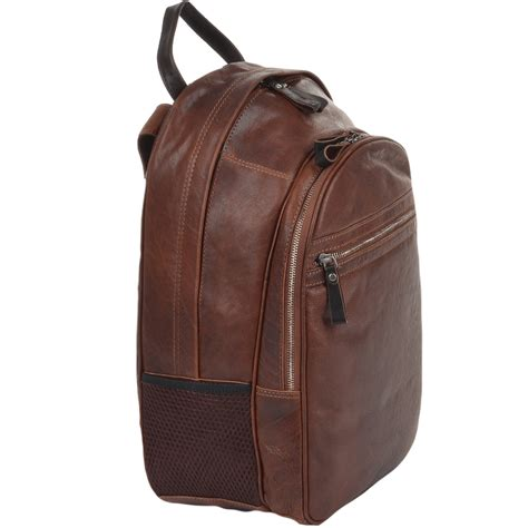 S Leather Backpack Brown leather backpack brown 4555 unisex rucksack