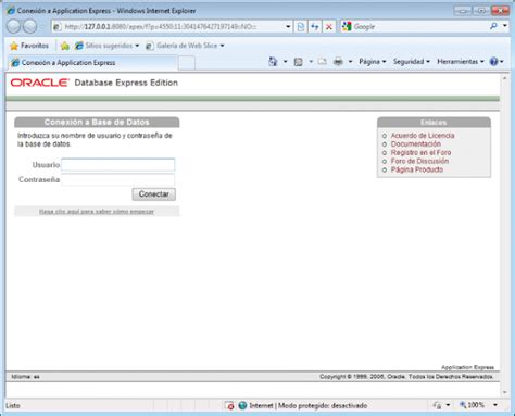 tutorial oracle database 10g express edition base de datos oracle database 10g express edition xe