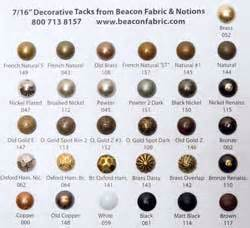 7 16 quot decorative upholstery tacks gold tone
