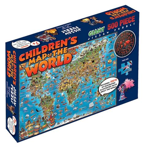 children s map of the world 500 puzzle by dp001 9781905502288 item barnes noble 174