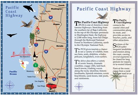 california pacific coast highway map maps s notebook