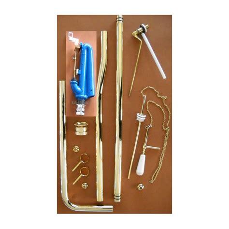 cassetta di scarico meccanismo di scarico per cassetta alta completo di tubi oro
