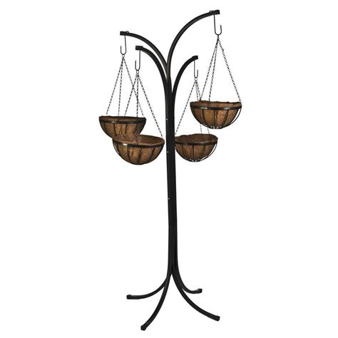 basket tree stand cobraco 12 in metal hanging basket with tree stand 4