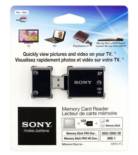 Memory Tv Sony Outs New Tv Friendly Memory Card Reader