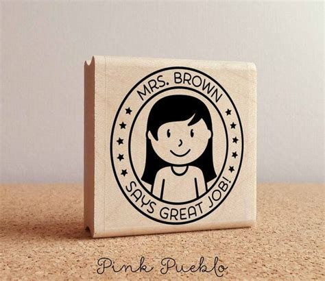 personalized rubber sts for teachers personalized rubber st custom