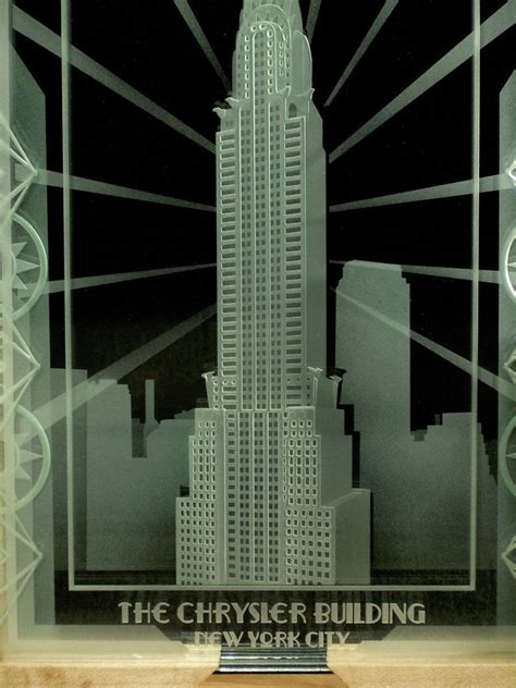 Industrial Interiors Home Decor Hand Crafted Chrysler Building Of New York City Art Deco