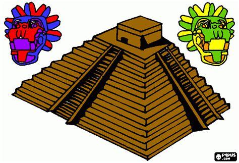 imagenes de los mayas para imprimir piramide azteca para colorear piramide azteca para imprimir