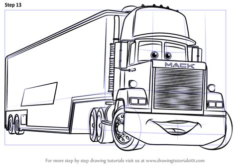coloring pages cars mack coloring pages cars mack piston cup coloring page free