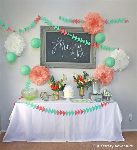 theme bridal shower tableware mint to be baby shower ideas our kerrazy adventure