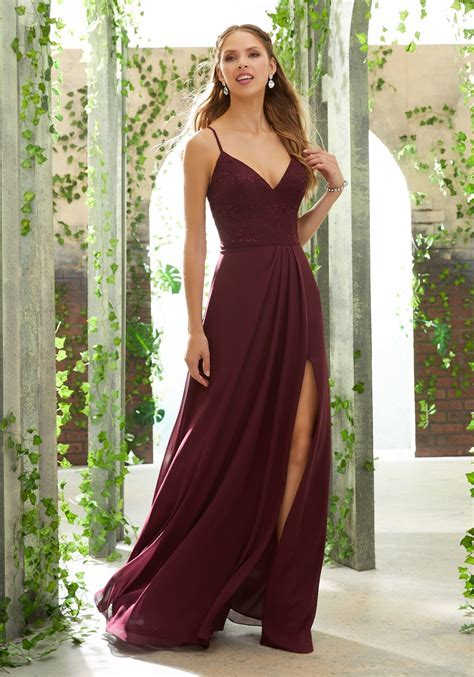 Sexy Bridesmaid Dress with V Neck, Lace Bodice   Style