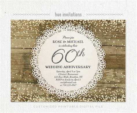 card template for 60th silver anniversary 60th wedding anniversary invitation glitter silver
