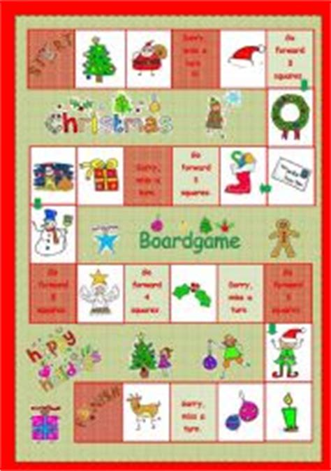 printable board games christmas christmas boardgame worksheet by szilvi