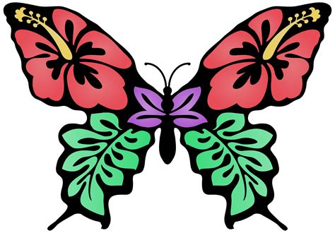 Butterfly Colour clipart butterfly flower colour