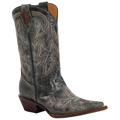 s rocky 174 handhewn s snip toe western boots