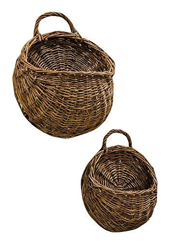 cwi gifts f283288a cwi gifts 2 piece willow wall basket