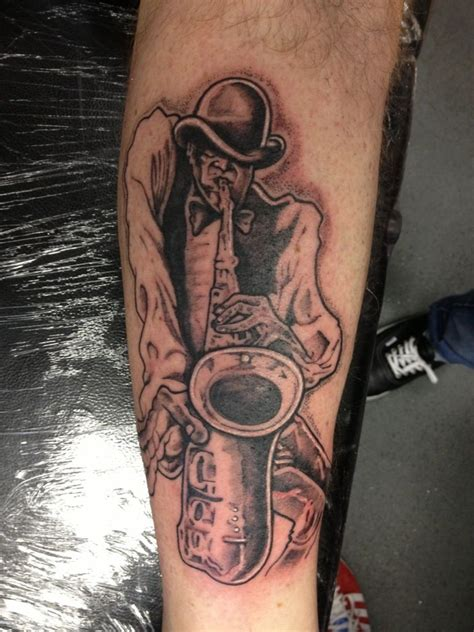 saxophone tattoo ideas about saxophone on dj tattoos