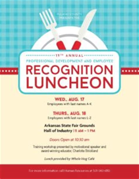Professional Development And Employee Recognition Luncheon Pulaski County Luncheon Flyer Template