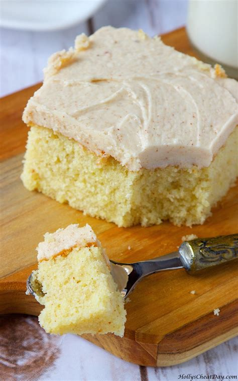browned butter cake w browned butter frosting holly s