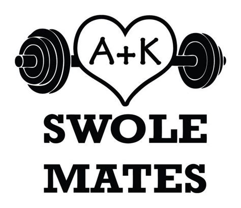 Stick Dumbell custom swole mates dumbbell choose your initials