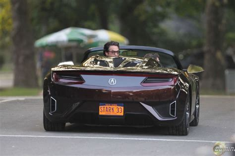 acura supercar avengers acura nsx roadster from the avengers teases open top