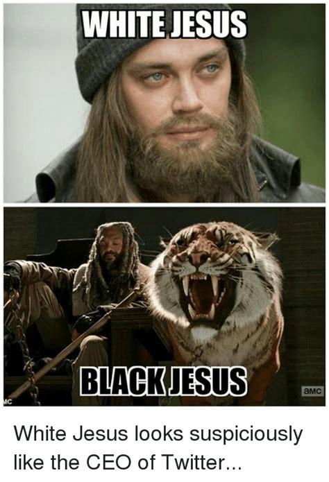 Black Jesus Meme - white jesus black jesus amc white jesus looks suspiciously
