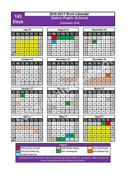 Dalton Schools Calendar Dalton Schools Calendars Dalton Ga
