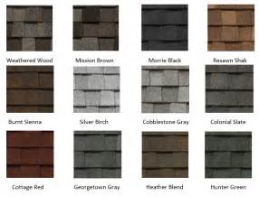 certainteed shingle colors shingle manufacturers rbn roofing