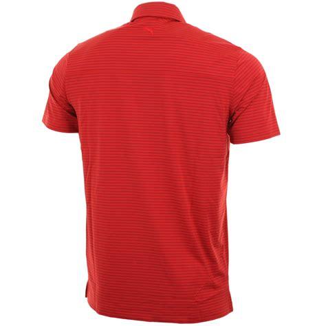 Polo Shirt Puma56 Limited golf mens stripe performance polo shirt limited edition ebay