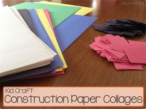 Crafts Construction Paper - mart kid craft construction paper collage