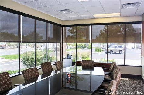 comfort blinds and screens bank conference room solar screen window treatments