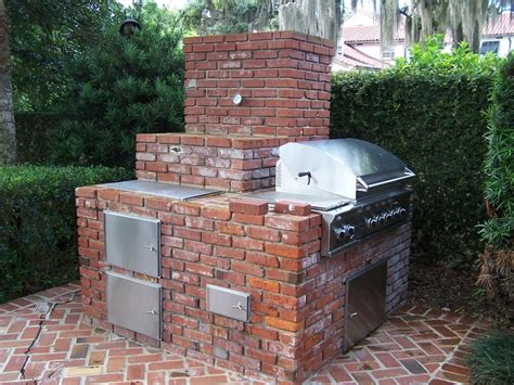 backyard brick bbq custom brick outdoor grill winter park fl yard