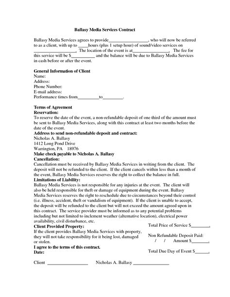 Wedding Invitation Contract