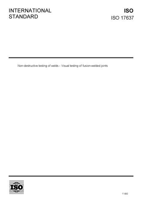 ISO 17637 - European Standards