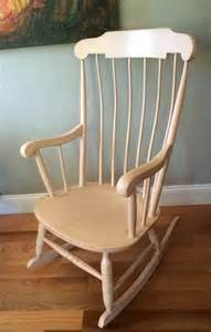 Shabby chic wooden rocking chair sold