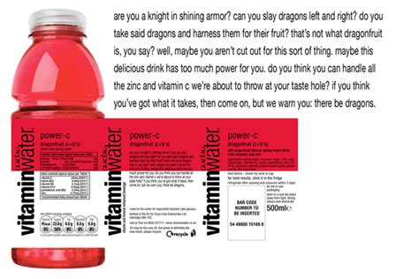 Vitamin Water Sheet Template by Vitamin Water Packaging Search