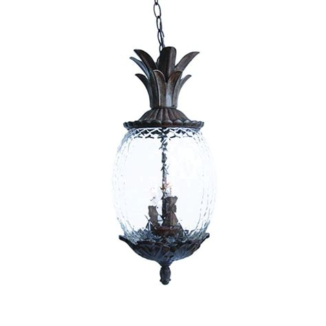 Pineapple Outdoor Light Fixtures Acclaim Lighting Lanai Collection 3 Light Black Coral Outdoor Hanging Light Fixture 7516bc The