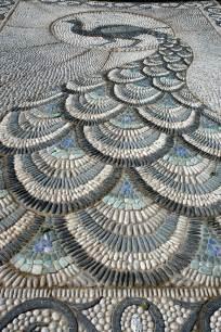 River Rock Rug Gartenwege Aus Kieselsteinen Interessante Mosaik Ideen