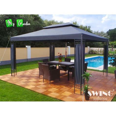 pavillon 4 x 5 günstig tonnelle 4x3 pavillon de jardin grise achat