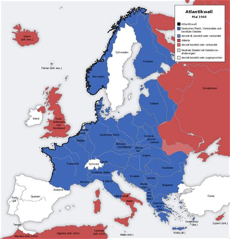 maps map of europe 1944