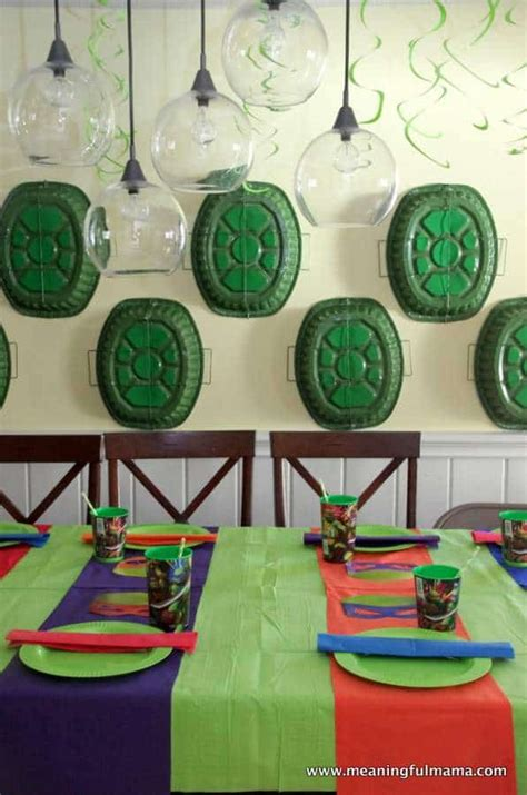 Turtle Themed Birthday Supplies by Mutant Turtle Ideas