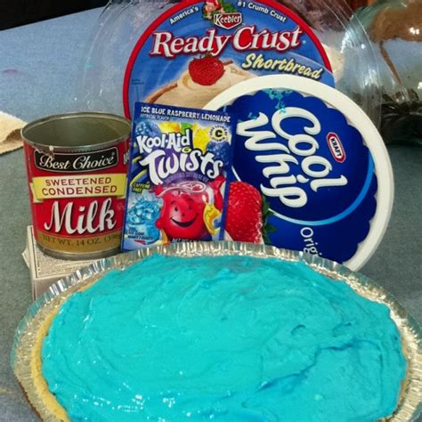 Pie Kunang Mix Flavour kool aid pie mix your favorite kool aid flavor with 1 tub of cool whip 1 can sweetened